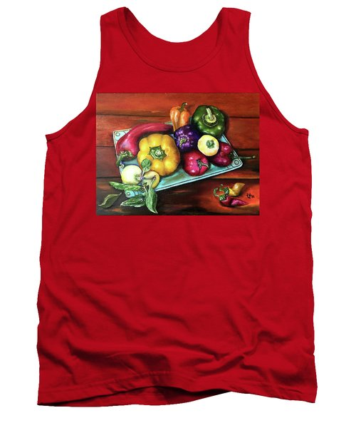 Peppers And A Turquoise Tray Tank Top