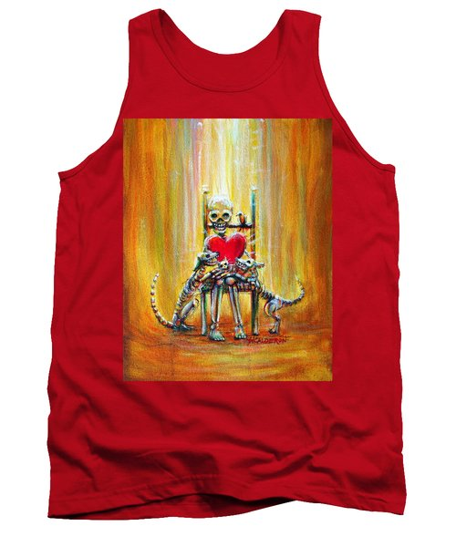 Tank Top featuring the painting Pet Love by Heather Calderon