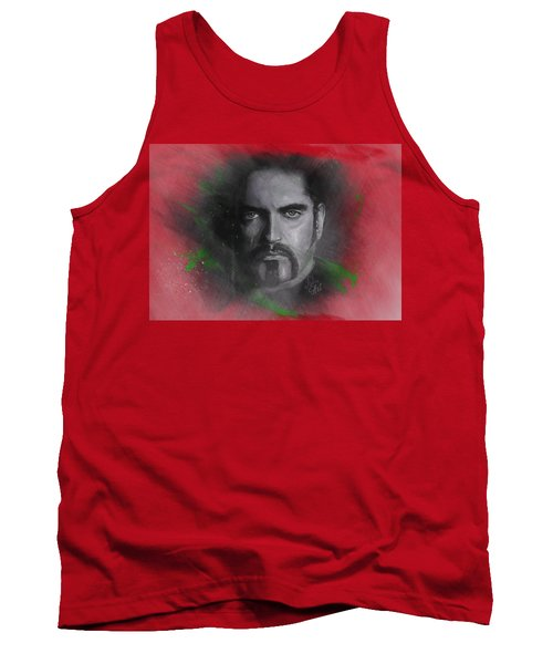 Tank Top featuring the drawing Peter Steele, Type O Negative by Julia Art