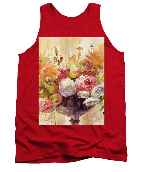 Petite Apples In Floral Tank Top by Judith Levins