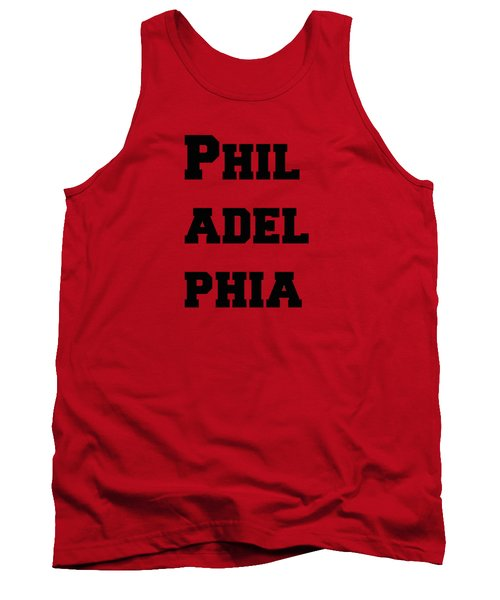 Philadelphia In Pink Tank Top