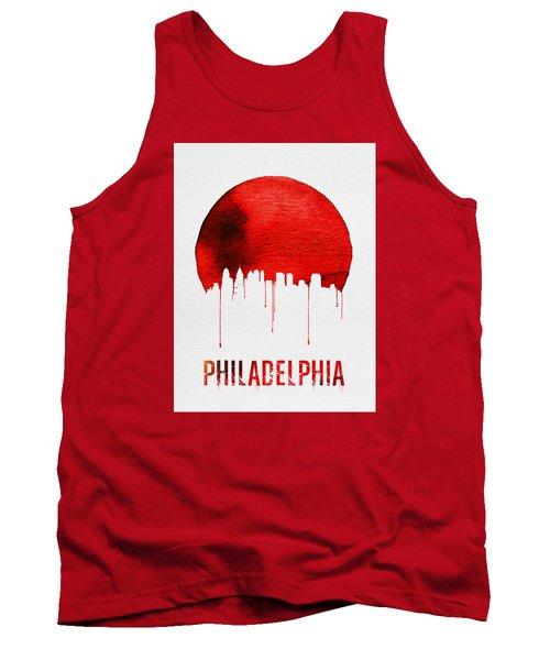 Philadelphia Skyline Redskyline Red Tank Top by Naxart Studio