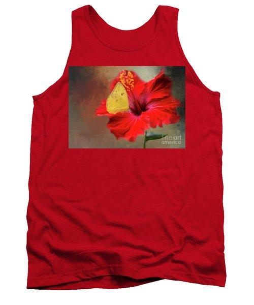 Phoebis Philea On A Hibiscus Tank Top