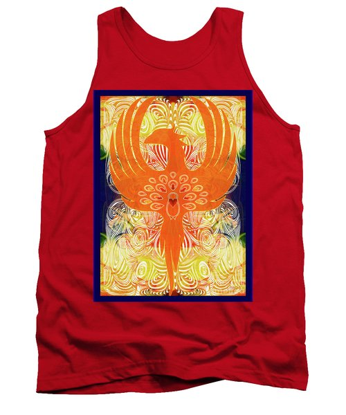 Phonix Rising Abstract Healing Art By Omashte Tank Top