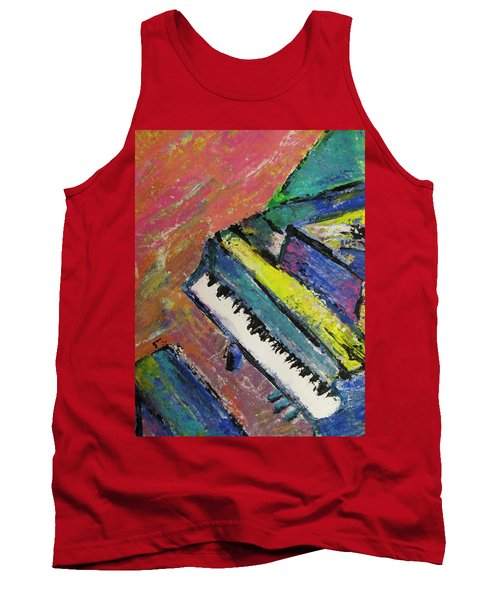 Piano With Yellow Tank Top