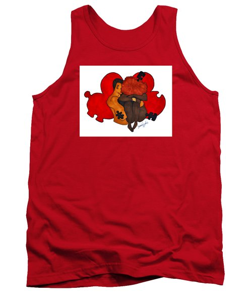 Picking Up The Pieces Tank Top by Diamin Nicole