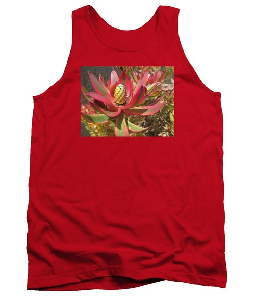 Pineapple King Flower Tank Top by Tina M Wenger