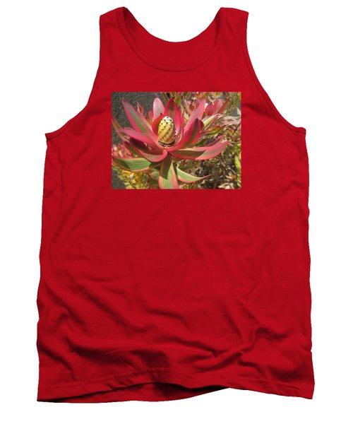 Pineapple King Flower Tank Top
