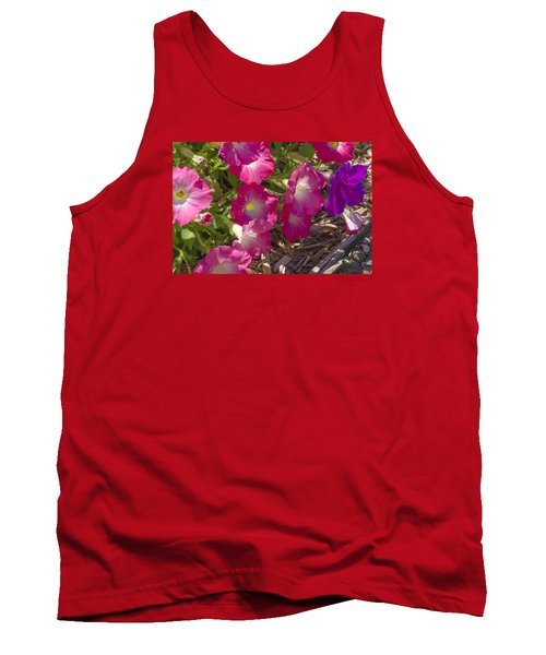 Pink And Purple Petunias Tank Top