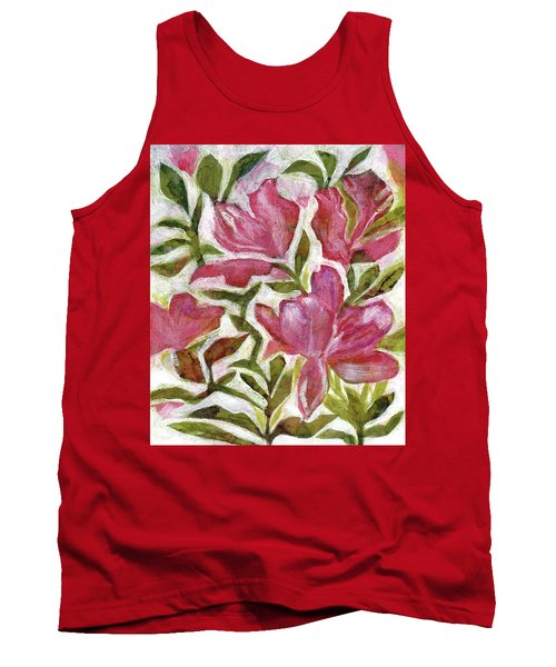 Tank Top featuring the painting Pink Azaleas by Julie Maas