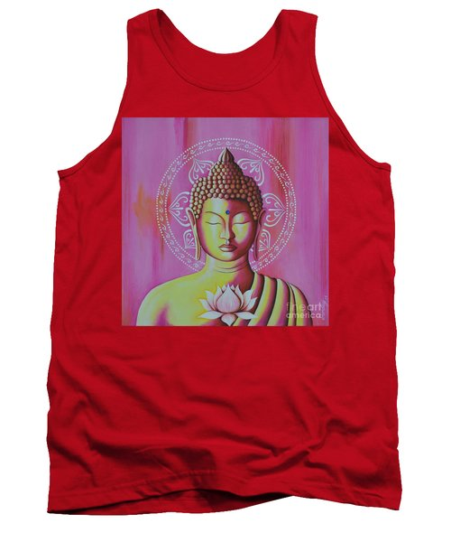 Tank Top featuring the painting Pink Buddha by Joseph Sonday