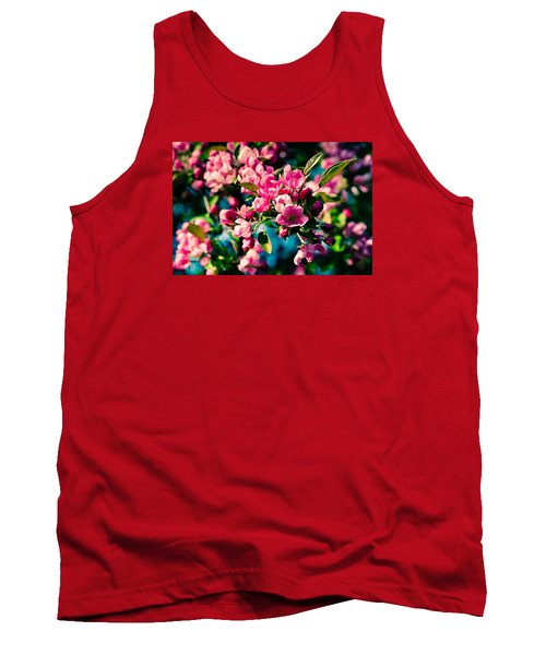 Tank Top featuring the photograph Pink Crab Apple Flowers by Alexander Senin