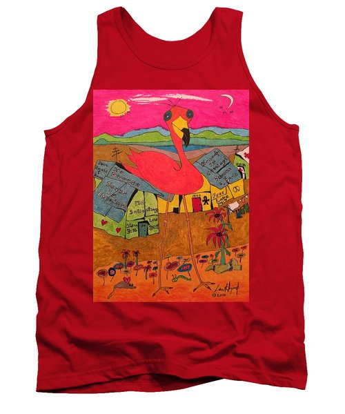 Pink Flamingo Camp Tank Top