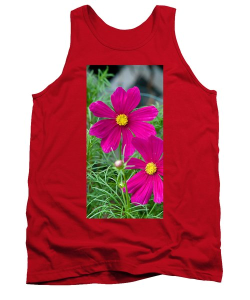 Pink Flower Tank Top