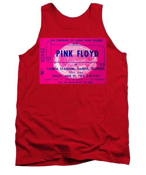Pink Floyd Concert Ticket 1973 Tank Top