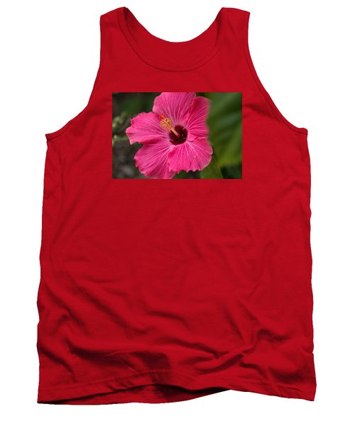 Pink Hibiscus Tank Top by Dorothy Cunningham