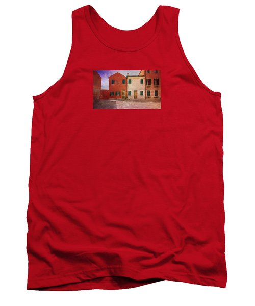 Tank Top featuring the photograph Pink Houses by Anne Kotan