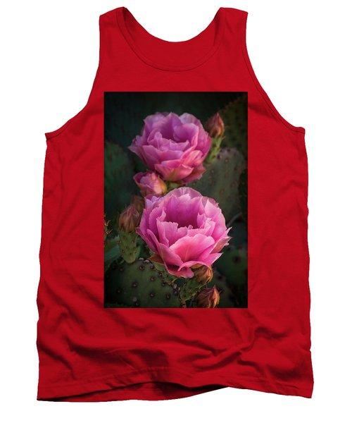 Tank Top featuring the photograph Pink Opuntia Blooms  by Saija Lehtonen