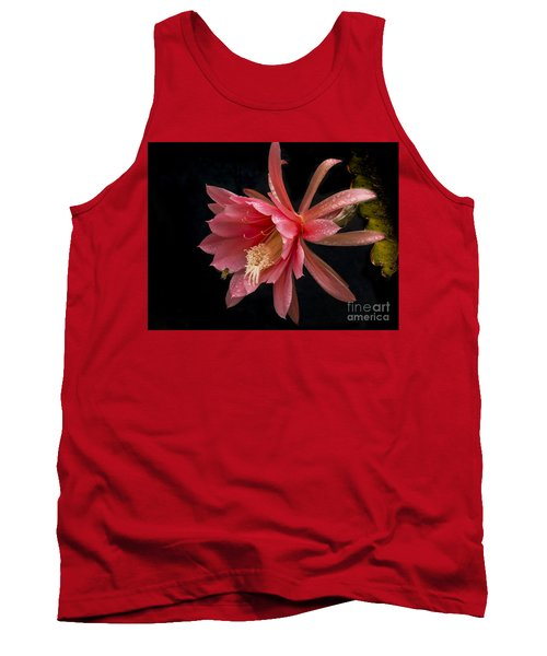 Pink Orchid Cactus Flower Tank Top by Inge Riis McDonald