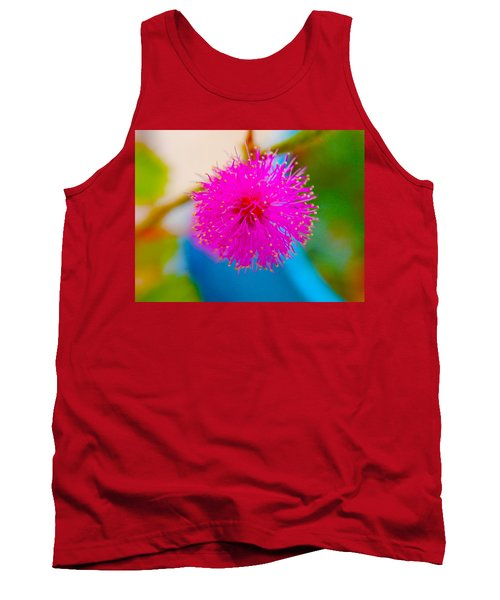 Pink Puff Flower Tank Top by Samantha Thome