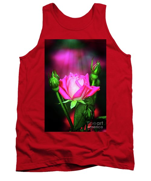Pink Rose Tank Top by Inspirational Photo Creations Audrey Woods