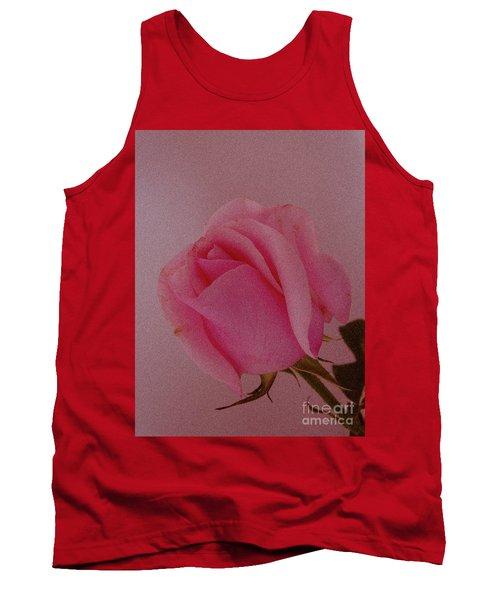 Pink Single Rose Tank Top