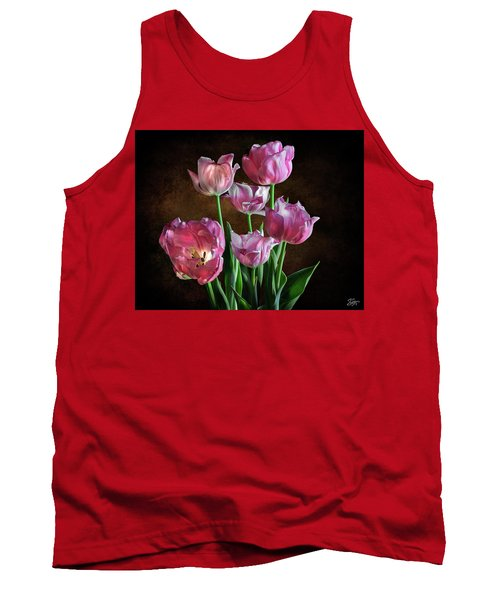 Pink Tulips Tank Top