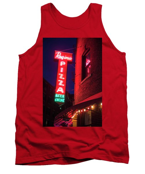 Pizzeria Regina Boston Ma North End Thacher Street Neon Sign Tank Top