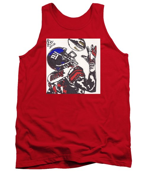 Tank Top featuring the drawing Plexico Burress by Jeremiah Colley