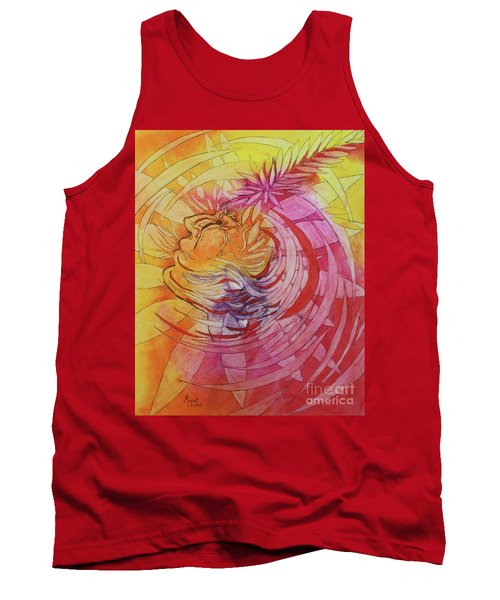 Tank Top featuring the drawing Polynesian Warrior by Marat Essex