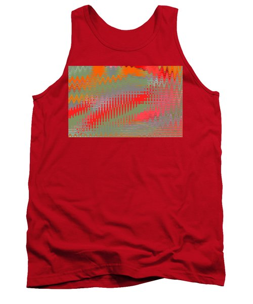 Pond Abstract - Summer Colors Tank Top by Ben and Raisa Gertsberg