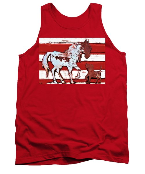 Pony And Pup Tank Top by Larry Campbell