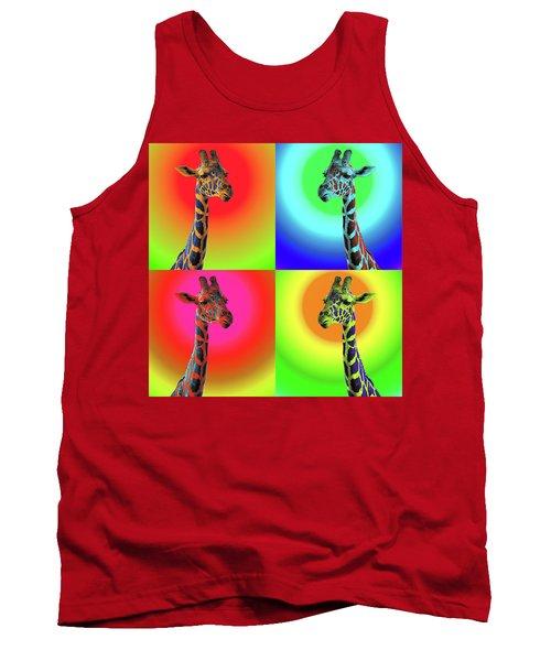 Pop Art Giraffe Tank Top