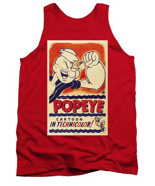 Popeye Technicolor Tank Top