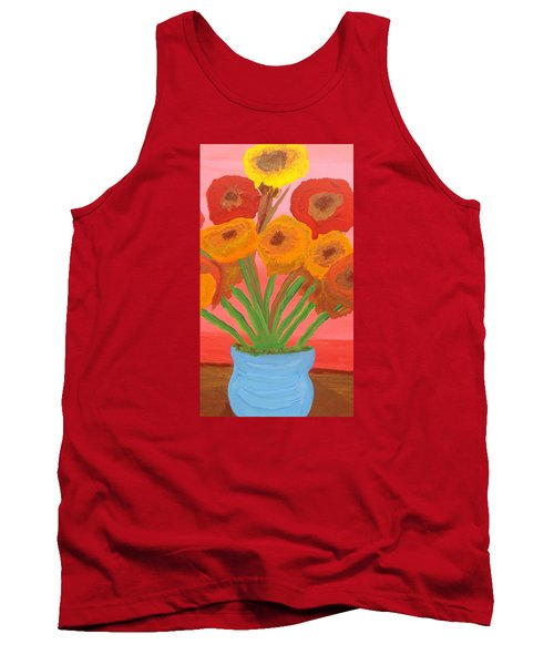 Tank Top featuring the painting Poppies 1 by Don Koester