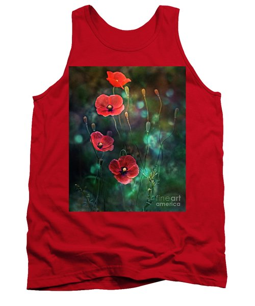 Poppies Fairytale Tank Top by Agnieszka Mlicka