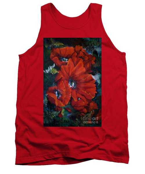 Poppies In Light IIi Tank Top