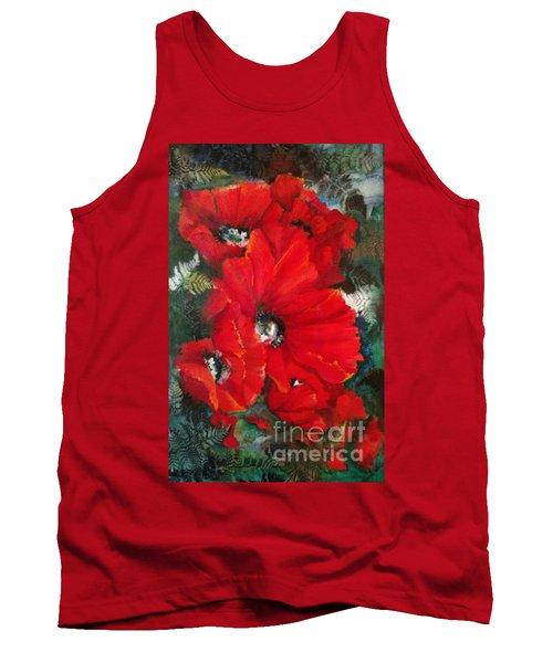 Poppies In Light Tank Top