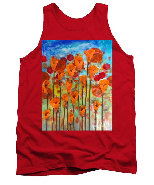 Poppies Make Me Happy Tank Top