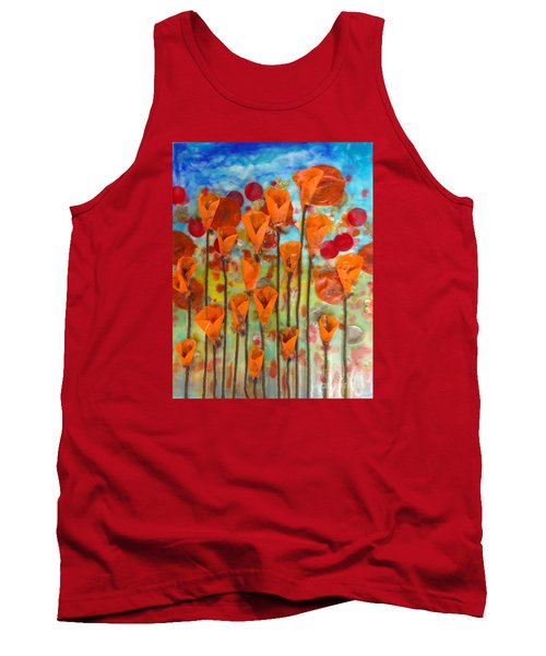 Poppies Make Me Happy Tank Top