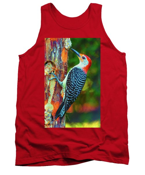 Popping Color Woodpecker Tank Top