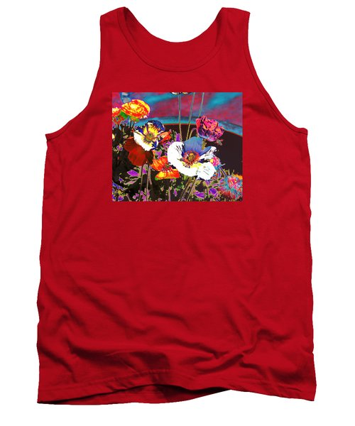 Poppy Abstract 3 Tank Top