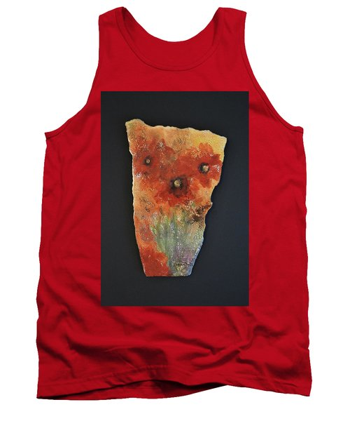 Tank Top featuring the ceramic art Poppy Impressions by Kathleen Pio