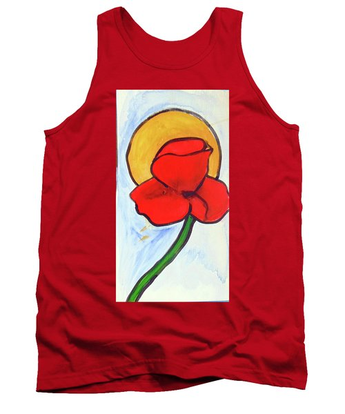 Tank Top featuring the painting Poppy by Loretta Nash