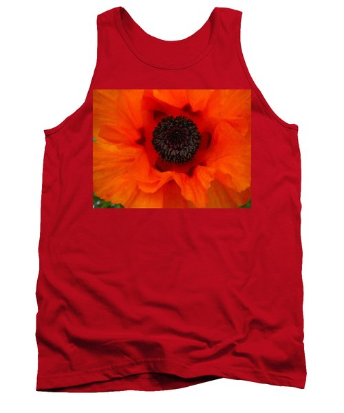 Tank Top featuring the painting Poppy by Renate Nadi Wesley
