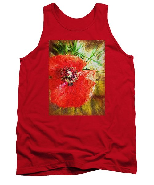Tank Top featuring the photograph Poppy Variation Too by Kathy Bassett