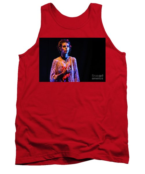 Tank Top featuring the photograph Portrait Of Ballet Dancer In Pose On Stage by Dimitar Hristov