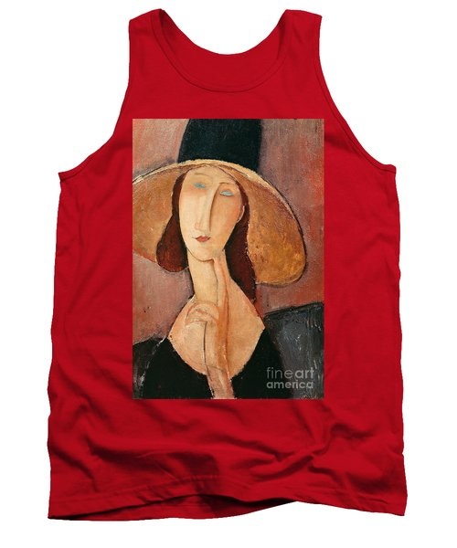 Portrait Of Jeanne Hebuterne In A Large Hat Tank Top