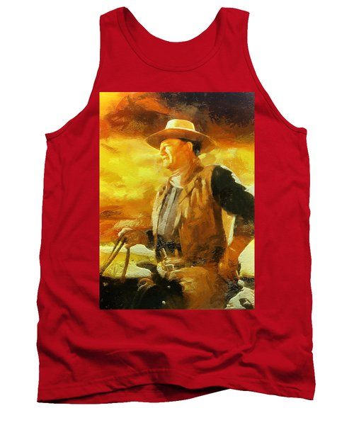 Portrait Of John Wayne Tank Top