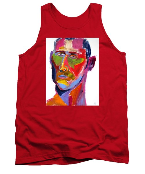 Tank Top featuring the painting Portrait Prez by Shungaboy X
